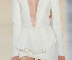 fashion, white, and runway image