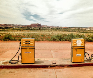desert, vintage, and gas image
