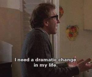 quote, woody allen, and life image