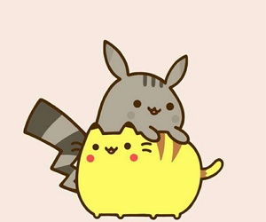 mignon, pikachu, and pusheen image