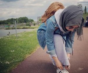 good girl, hijab, and style image