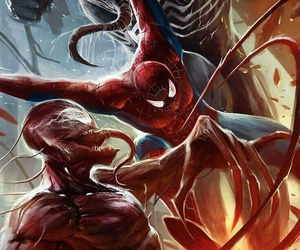 spiderman, Marvel, and venom image