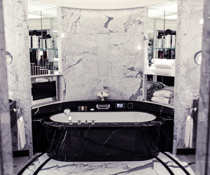 bathroom, marble, and fashion image