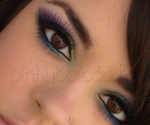 eyes, makeup, and passionate peacock image
