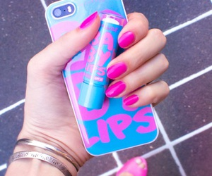 pink, iphone, and baby lips image