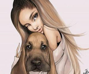 ariana grande, dog, and drawing image