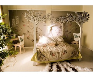 tree, bedroom, and bed image
