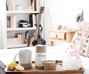 breakfast, home decor, and bedroom image