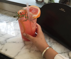 drink, grapefruit, and food image