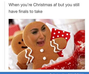 funny, christmas, and kim kardashian image