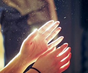 hands, light, and magic image