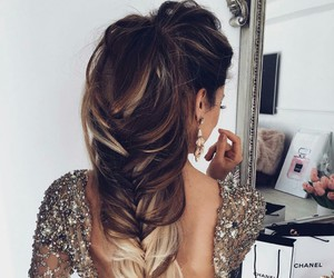 hair, hairstyle, and dress image