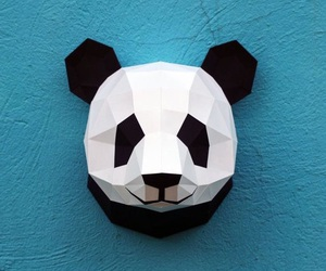 cool, mask, and panda image