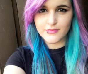 blue, hair, and indigo image