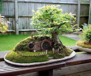 hobbit, bonsai, and tree image