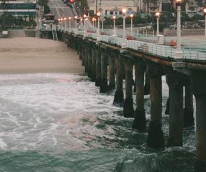 beach, sea, and vintage image