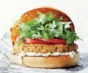 burger, food, and vegan image