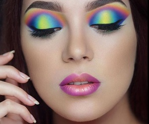 blue, colorful, and cosmetics image