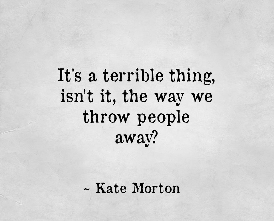 quote, kate morton, and words image