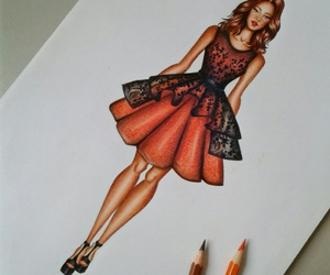 art, fashion, and sketch image