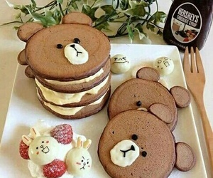 food, bear, and pancakes image