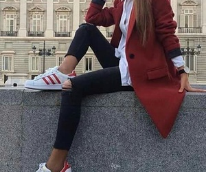 adidas, red, and black image