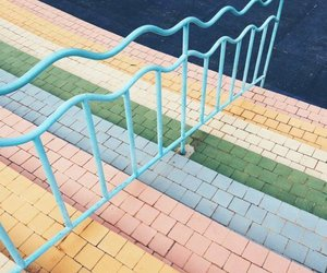 colors, pastel, and stairs image