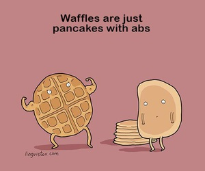 pancakes, waffles, and abs image