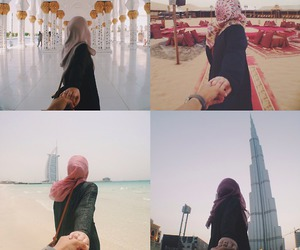 hijab, muslim, and Dubai image
