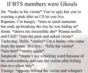 ghoul, kpop, and meme image