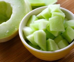 fruit, melon, and delicious image
