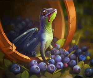 dragon, berry, and blueberry image