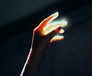 light, power, and hand image