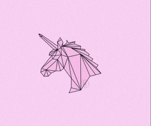 wallpaper, pink, and unicorn image