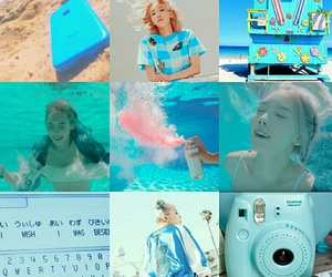 blue, why, and taeyeon image
