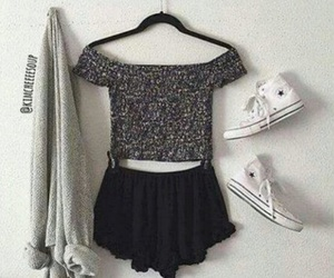 outfit, black, and cute image
