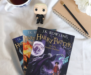 books, reading, and harry potter image