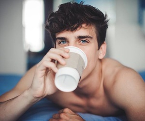 blue eyes, coffee, and cuteness image