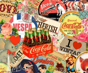 coca-cola, vintage, and wallpaper image