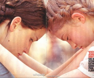 the hunger games, prim, and katniss image