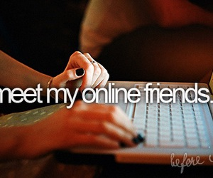 computer, friends, and nails image