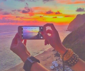 summer, sunset, and iphone image