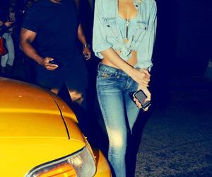 rihanna, jeans, and blonde image