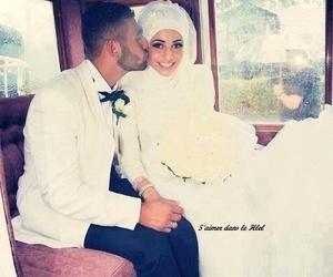 love, hijab, and wedding image