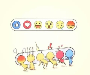 facebook, funny, and emojis image