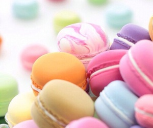 colores, macaroons, and pastel image