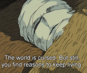 captions, ghibli, and subtitles image