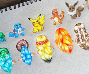 pokemon, art, and hair image