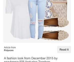 blue jeans, casual, and flats image