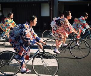 girls, japan, and kimono image